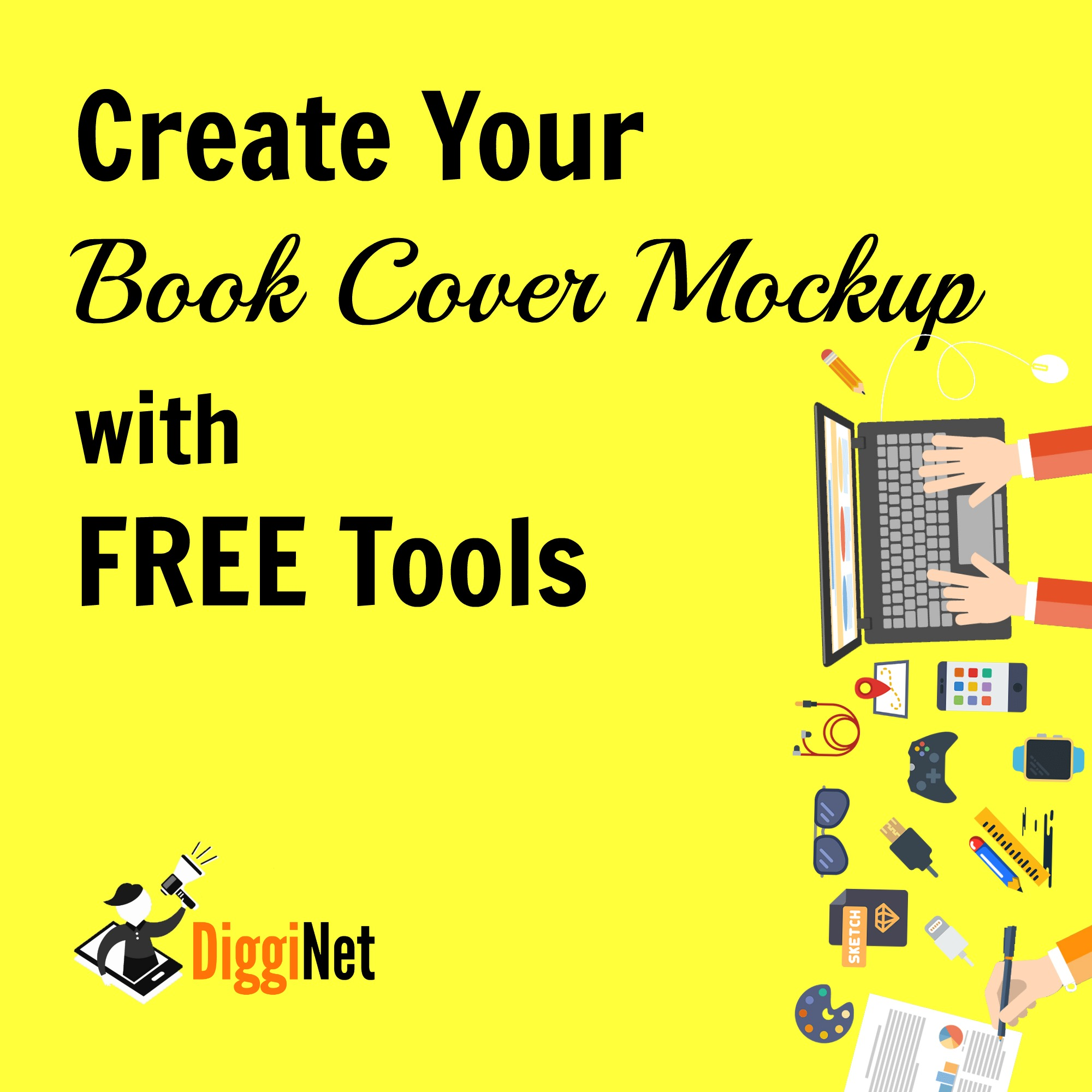 Book Cover Making Free : Create your book cover mockup with free tools design