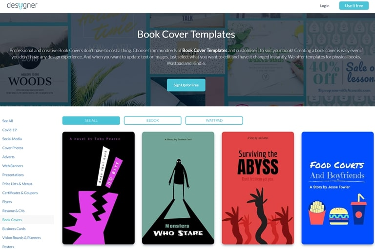 free tools to create book covers